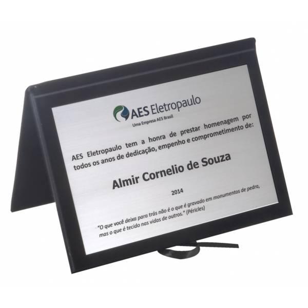 Objeto Acrílico no Sítio do Palanque - Placas de Inauguração em Aço Inox