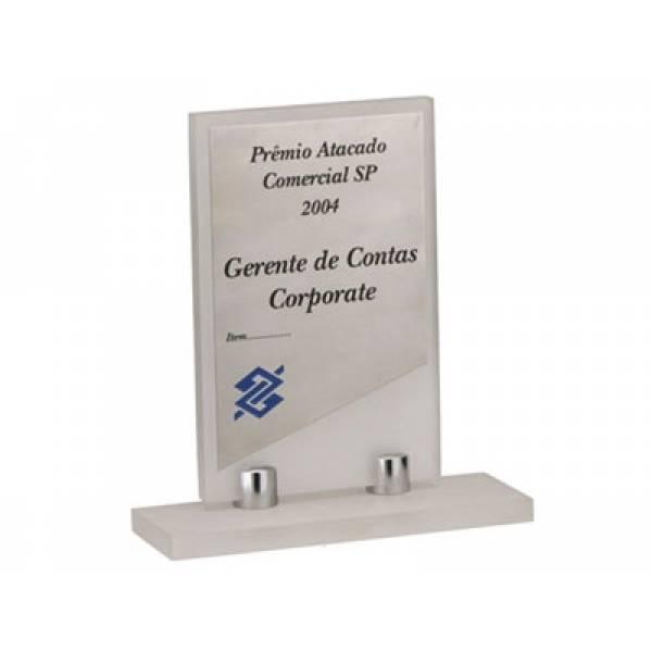 Placa de Acrílico no Jardim Cristina - Plaquinha de Homenagem