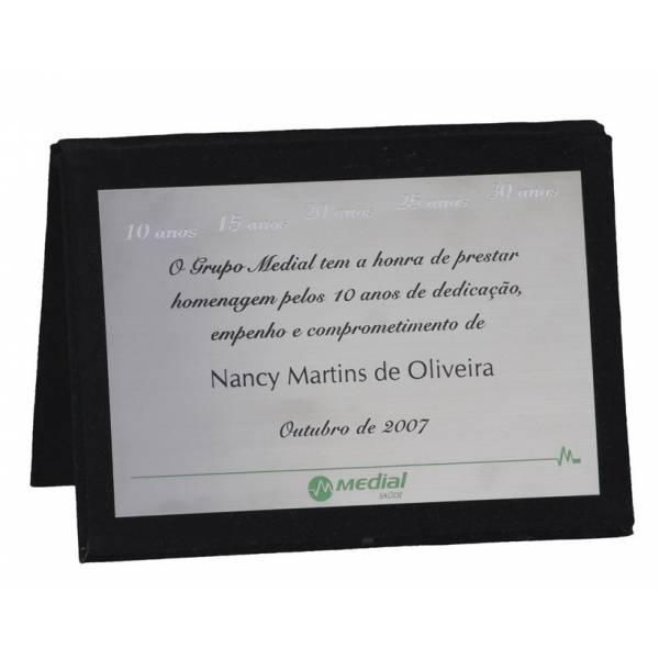 Placa Personalizada em Inox na Chácara São Marcos - Placas para Homenagem para Formatura