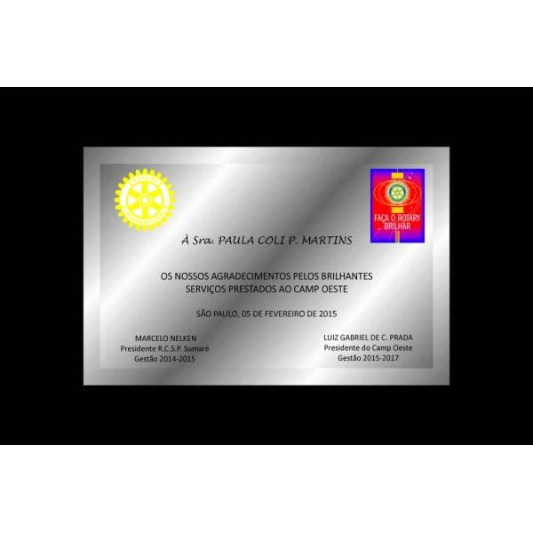 Preço Placa Inox no Jardim Pirajussara - Placa de Identificação em Aço Inox