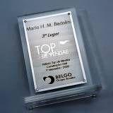 Troféu personalizado e medalha em acrílico fotos no Sítio das Francas
