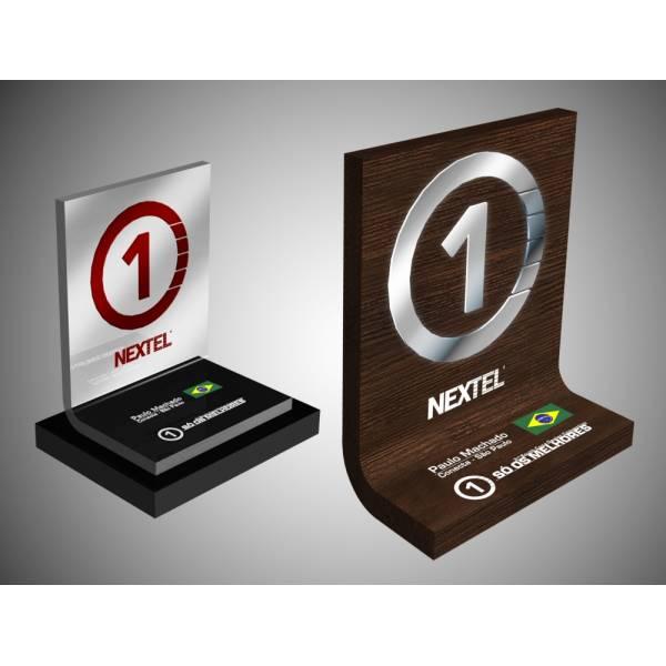 Troféu com Gravação Digital UV com Personalização na Vila Vera - Troféus e Placas de Homenagem