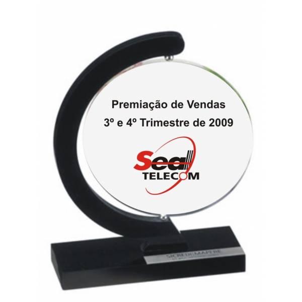 Troféu-de-acrílico-95 no Jardim Copacabana - Troféu Personalizado em Acrílico