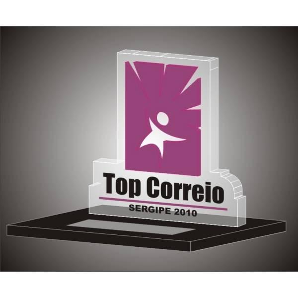 Troféu-de-acrílico-99 na Barra Funda - Troféu em Acrílico