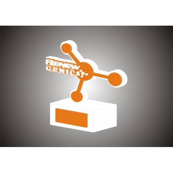 Troféu em Acrílico e Aço Onde Comprar na Chácara Sonho Azul - Troféu Personalizado