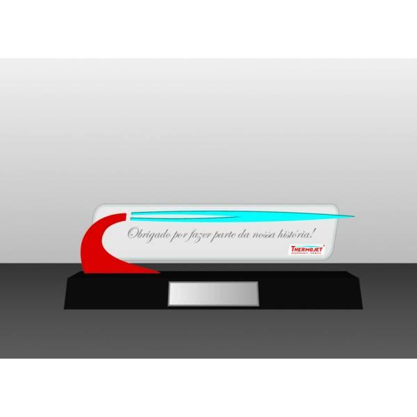 Troféus e Placas de Homenagem Personalizadas na Chácara São Silvestre - Troféu em Acrílico com Gravação Digital