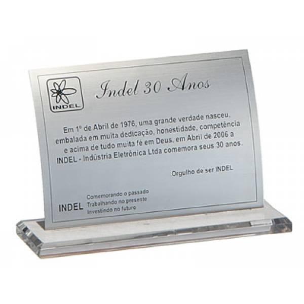 Valores de Placa para Homenagem na Granja Julieta - Placas de Inox para Homenagem